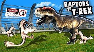 NEW Raptors vs T-REX at Jurassic Park!  NEW Update (Mesozoica Dinosaur Park Simulator Gameplay)