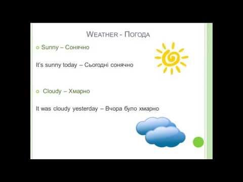 мультфильм на английском про погоду само
