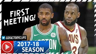 LeBron James vs Kyrie Irving EPIC Duel Highlights (2017.10.17) Cavs vs Celtics - FACE TO FACE!