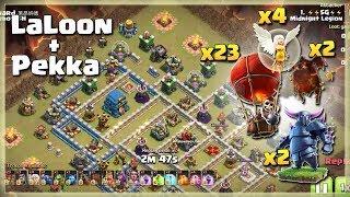 Insane Attacks= PEKKA+LALOON | TH12 War Strategy #72 | COC 2018 |