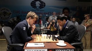World Chess Championship 2013 Game 1 - Magnus Carlsen vs Vishy Anand - Reti Opening