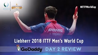 Day 2 Daily Review presented by GoDaddy  | 2018 ITTF Men