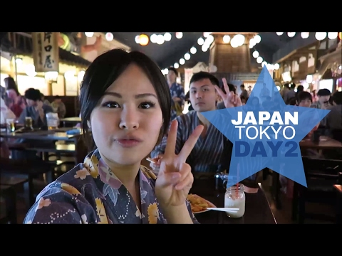 Japan Vlog 2: Tsukiji Market, Streetfood, Hotspring, & Fish Eating Feet!