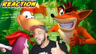 Crash vs Rayman. Épicas Batallas de Rap del Frikismo | Keyblade | Video Reaccion