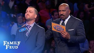 $20,000 at stake! 28 points with his last answer? | Family Feud