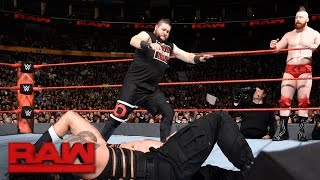 Roman Reigns & Kevin Owens vs. Cesaro & Sheamus: Raw, Nov. 14, 2016