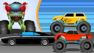 Haunted House Monster Truck - Haunted House Monster Truck | War | Episode 14 | Videos for Kids