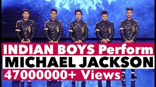 INDIAN Boys Dance Michael Jackson on TV Show   Bollywood in Europe   Shraey Khanna   Tu Si Que Vales
