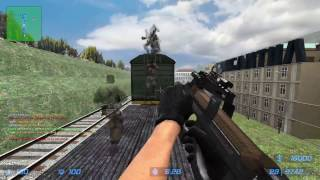 Counter-Strike Source: Zombie Escape - ze_Rooftop_Runaway1_v4 on GFL (Fighting TRAINS!)