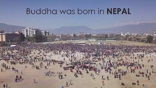 Buddha was born in Nepal, drone shot, World Record Holders event at Tundikhel