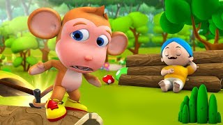 Naughty Monkey 3D Animated Hindi Moral Stories for Kids - मस्ती खोर बंदर हिन्दी कहानी Tales