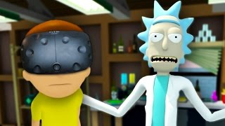 WUBBA LUBBA DUB DUB | Rick And Morty VR #1 (HTC Vive Virtual Reality)