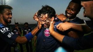 M.S Dhoni   Pollard   Rohit Sharma   Hardik Pandya   Birthday Celebration Video   Mumbai Indians  HD