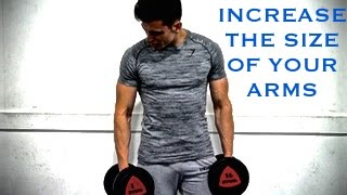 3 WAYS TO INCREASE THE SIZE OF YOUR ARMS - Arm Workout With an Ectomorph (Biceps & Triceps)