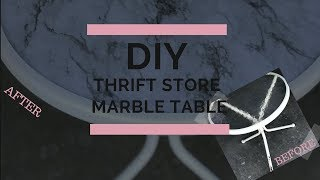 THRIFT STORE DIY MARBLE SIDE TABLE