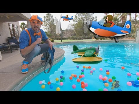 Xxx Mp4 Blippi And Airplanes For Kids Educational Videos For Toddlers And The Seaplane Song 3gp Sex