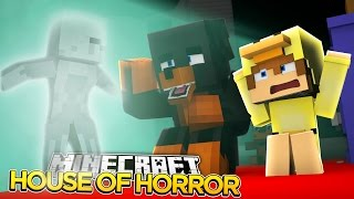 Minecraft SCARY HOUSE - DONUT SEES DEAD PEOPLE!!!! - donut the dog minecraft roleplay