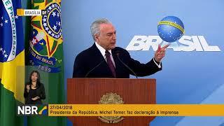 Presidente Michel Temer faz declaração à imprensa
