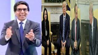 تعليق مضحك من محمد ناصر علي الفرق بين إستقبال ترامب للسيسي وإستقباله لآيه حجازي