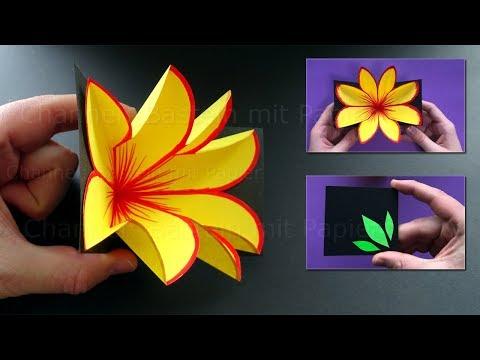 Xxx Mp4 Basteln Mit Papier 💐 Pop Up Karte Mit Blume Selber Machen DIY Bastelideen Für Geschenke 3gp Sex
