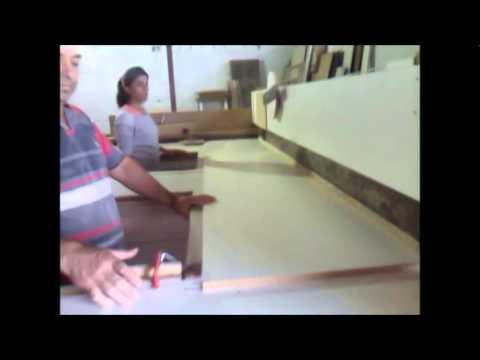 Seccionadora todo manual feito em madeira