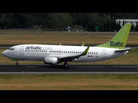 Air Baltic Boeing 737-36Q YL-BBJ takeoff Berlin Tegel