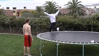 HE FELL OFF THE TRAMPOLINE