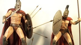 NECA 300 KING LEONIDAS SDCC EXCLUSIVE and RETAIL ACTION FIGURE MOVIE TOY'S VIDEO REVIEW