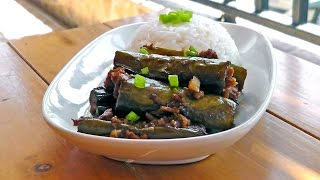 Chinese Eggplant with Minced Soy - Vegan Vegetarian Recipe