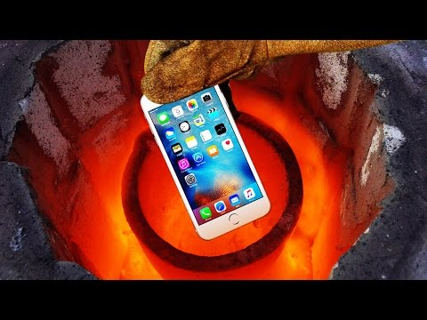 Smelting an iPhone 6s in 2600 Degrees Foundry Will It Completely Meltdown to Liquid Metal