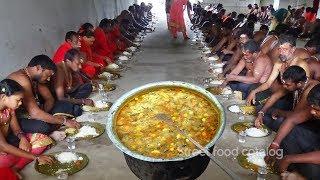 Amazing Cooking South Indian Sambar Prepared 1000 Ayyappa Swamys Sadhi Hindu Function | Street Food