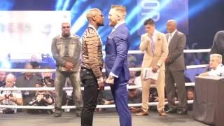 Floyd Mayweather Jnr V Conor McGregor faceoff LONDON