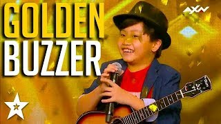KID GUITARIST gets GOLDEN BUZZER on Asia