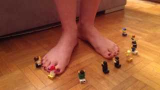 Stop Motion: Lego slaves pray to my feet