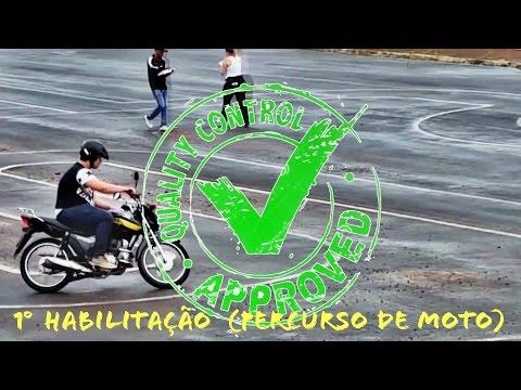Exame pratico de moto TIRANDO CNH Bauru SP