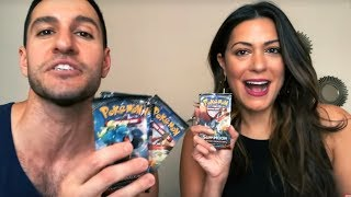 MY SISTER OPENS POKEMON CARDS FOR THE FIRST TIME!