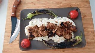 Mangalda Yaprak Kebap nasıl yapılır - Şiş kebab yapılışı - KES PİŞİR YE - Yemek Tarifleri