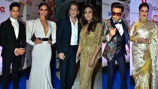 Hello Hall of Fame Awards 2018 Full Red Carpet HD Video   Shahrukh, Deepika,Ranveer,Rekha,Sidharth