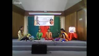 SRFA Pallavi Festival 2017 Kiran Nivi (Sai Sisters) Sahana and Subha Chandramouli