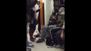 Racist Muslim Girls on London Train