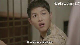 Descendant of the Sun funny cute + kiss scene [2/3]