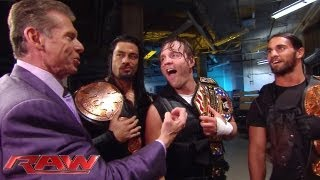 Mr. McMahon is impressed with The Shield's ruthless aggression: Raw, June 17, 2013