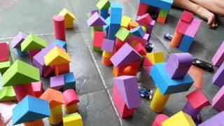 BERMAIN BALOK SPON | BUILDING BLOCK FOAM | wa 083897632306 / line @MomsAndChildren