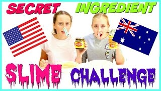 SECRET INGREDIENT SLIME CHALLENGE!  Collab With The Crafty Girls!