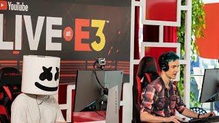 Marshmello x Ninja Play Fortnite Battle Royale Duos @ YouTube E3 Live