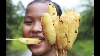 Jajanan Anak Sekolah Nasi Tusuk