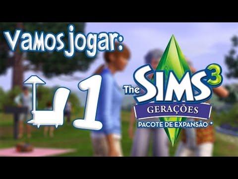 The Sims 3 Generations Gerações Gameplay Roupas e Explicação Rápida Ep.1