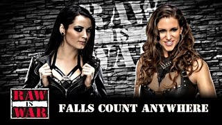 WWE 2K16 - Paige vs Stephanie McMahon - Falls Count Anywhere Match - WWE 2K16 Divas Gameplay