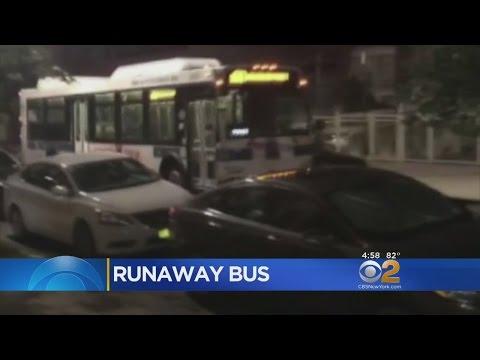 MTA Bus Rolls Backwards In Brooklyn