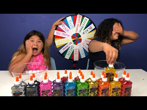 Xxx Mp4 3 COLORS OF GLUE SLIME CHALLENGE CHALLENGE MYSTERY WHEEL OF SLIME EDITION 3gp Sex